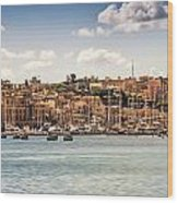 Port Of Valleta Wood Print by Maria Coulson