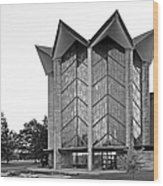 Valparasio University Chapel Of The Ressurection Wood Print by University Icons