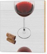Vampire Wine Glass Wood Print by Dennis James