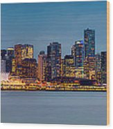 Vancouver From Lonsdale Quay Wood Print by Alexis Birkill
