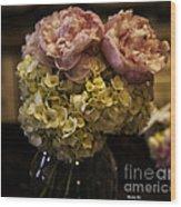 Vase Of Flowers Wood Print by Madeline Ellis