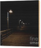 Ventura Pier At Night Wood Print by John Daly