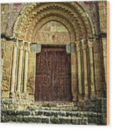 Vera Cruz Door Wood Print by Joan Carroll