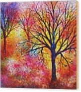Vibrant Wood Print by Ann Marie Bone