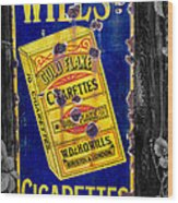 Victorian Sign Wood Print by Adrian Evans