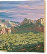 View From Airport Mesa - Sedona Wood Print by Steve Simon