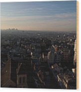 View From Basilica Of The Sacred Heart Of Paris - Sacre Coeur - Paris France - 011319 Wood Print by DC Photographer