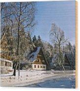 Village Wood Print by Aged Pixel