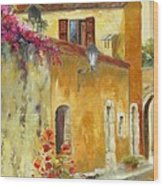 Village In Provence Wood Print by Chris Brandley
