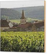 Village Of Monthelie. Burgundy. France Wood Print by Bernard Jaubert