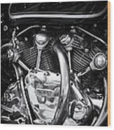 Vincent Engine Wood Print by Tim Gainey