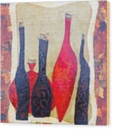 Vino 1 Wood Print by Phiddy Webb