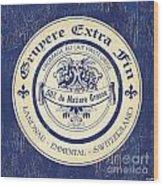 Vintage Cheese Label 5 Wood Print by Debbie DeWitt