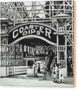 Vintage Coaster Wood Print by Benjamin Yeager