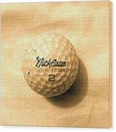 Vintage Golf Ball Wood Print by Anita Lewis