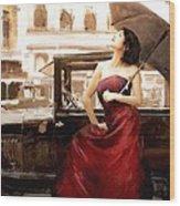 Vintage Lady Wood Print by Robert Smith