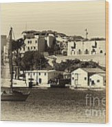 Vintage Marseille Sailing Wood Print by John Rizzuto