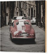 Vintage Porsche Wood Print by Karen Lewis
