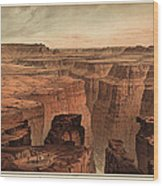 Vintage Print Of The Grand Canyon By William Henry Holmes - 1882 Wood Print by Blue Monocle