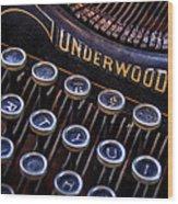 Vintage Typewriter 2 Wood Print by Scott Norris