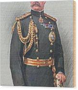 Viscount Kitchener Of Khartoum Wood Print by Walter Wallor Caffyn