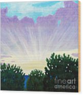 Visionary Sky Wood Print by Brian  Commerford