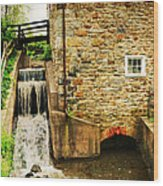 Wagner Grist Mill Wood Print by Paul Ward