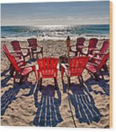 Waiting For The Party Wood Print by Peter Tellone