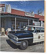 Wallys Service Station Wood Print by David Arment