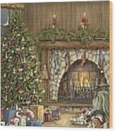 Warm Christmas Wood Print by Beverly Levi-Parker