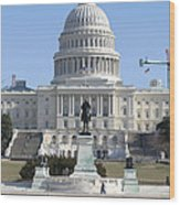 Washington Dc - Us Capitol - 01132 Wood Print by DC Photographer