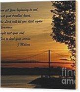 Watch The Sun Set Wood Print by John Malone