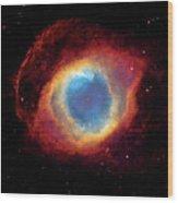 Watching - Helix Nebula Wood Print by The  Vault - Jennifer Rondinelli Reilly