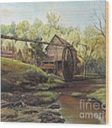 Watermill At Daybreak  Wood Print by Mary Ellen Anderson