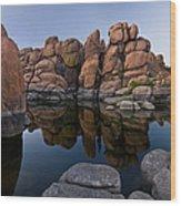 Watson Lake Arizona Reflections Wood Print by Dave Dilli