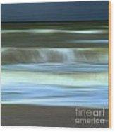 Waves Wood Print by Bernard Jaubert