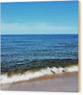 Waves In Motion Wood Print by Michelle Calkins