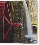 Wayside Grist Mill Wood Print by Dennis Coates