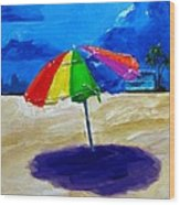We Left The Umbrella Under The Storm Wood Print by Patricia Awapara