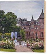 Wedding Setting In De Haar Castle. Utrecht Wood Print by Jenny Rainbow