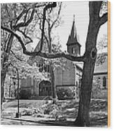 Wellesley College Houghton Chapel Wood Print by University Icons