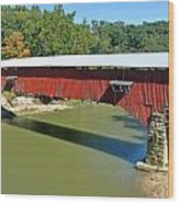 West Union Covered Bridge 2 Wood Print by Marty Koch
