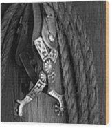 Western Spurs Wood Print by Tom Mc Nemar