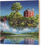 What A Wonderful World Wood Print by Turquoise Brush