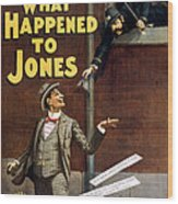 What Happened To Jones Wood Print by Aged Pixel