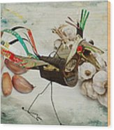 What Nature Delivers - Those Are Not My Eggs  Wood Print by Yvon van der Wijk