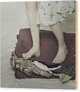 When A Woman Travels Wood Print by Joana Kruse