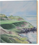Whistling Straits 7th Hole Wood Print by Deborah Ronglien