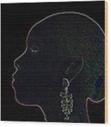 White Ink On Black Velvet Wood Print by Carl Purcell
