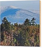 White Mountains Wood Print by Skip Willits